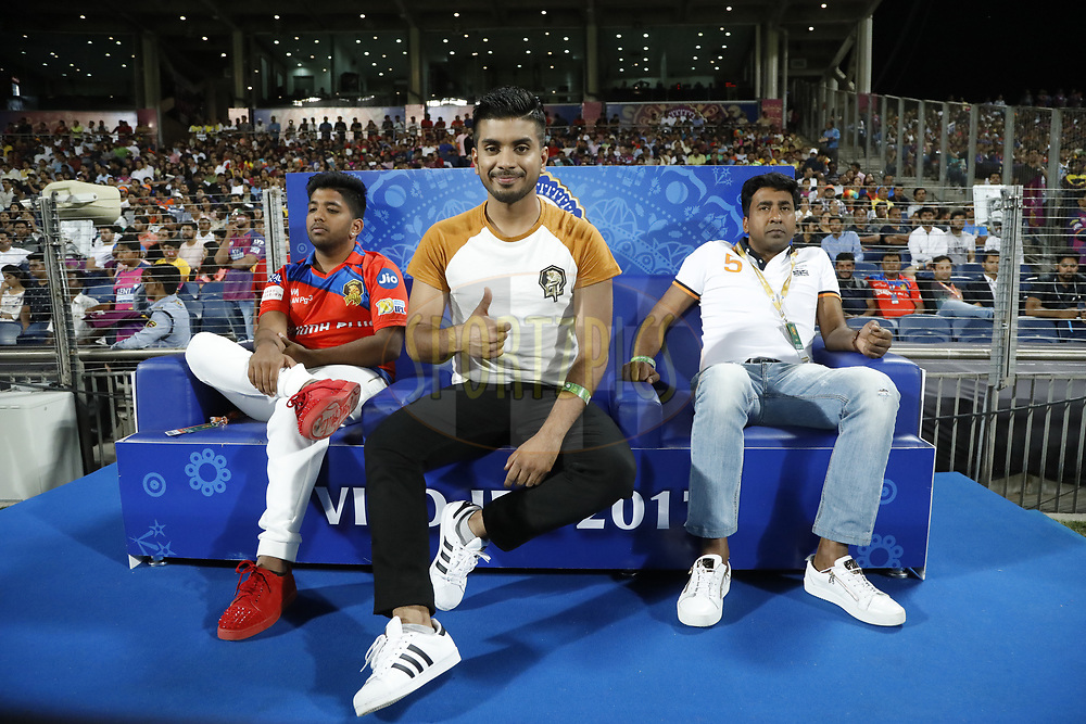 Keshav Bansal Owner of Gujarat Lions during match 39 of the Vivo 2017 Indian Premier League between the Rising Pune Supergiants and the Gujarat Lions held at the MCA Pune International Cricket Stadium in Pune, India on the 1st May 2017<br /> <br /> Photo by Arjun Singh - Sportzpics - IPL