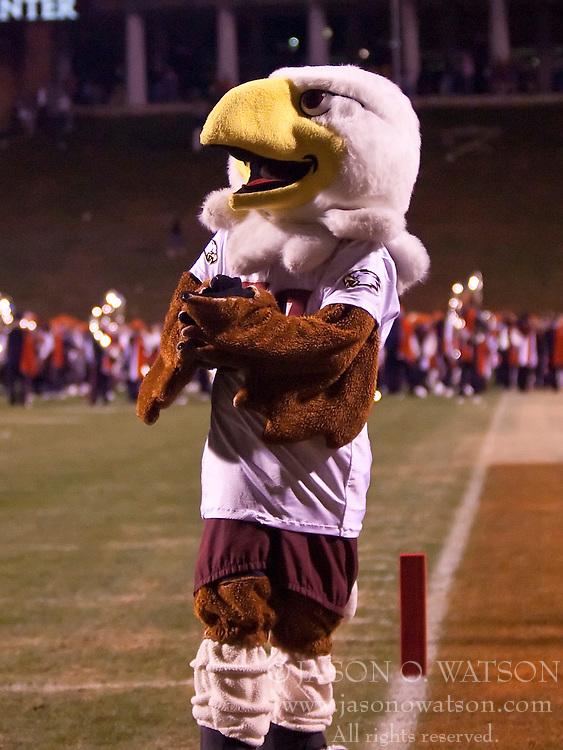 November 14, 2009; Charlottesville, VA, USA;  The Boston College Eagles mascot after the game against the Virginia Cavaliers at Scott Stadium.  Boston College defeated Virginia 14-10.  Mandatory Credit: Jason O. Watson-US PRESSWIRE