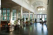 Wandelhalle, Bad Pyrmont, Weserbergland, Niedersachsen, Deutschland.| .pump room, Bad Pyrmont Spa, Weserbergland, Lower Saxony, Germany.