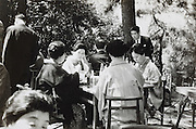 outdoors garden restaurant Japan 1960s
