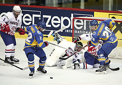 18.04.2016, Dom Sportova, Zagreb, CRO, IIHF WM, Ukraine vs Kroatien, Division I, Gruppe B, im Bild PETRANGOVSKY Yuri // during the 2016 IIHF Ice Hockey World Championship, Division I, Group B, match between Uraine and Croatia at the Dom Sportova in Zagreb, Croatia on 2016/04/18. EXPA Pictures © 2016, PhotoCredit: EXPA/ Pixsell/ Sanjin Strukic<br /> <br /> *****ATTENTION - for AUT, SLO, SUI, SWE, ITA, FRA only*****