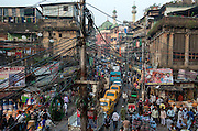 The muslim neighbourhood around the Nakhoda Mosque is a labyrinth of bazars and winding alleyways.