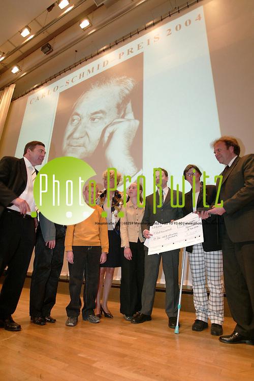 Mannheim. Carlo Schmid Preis.<br /> <br /> Bild: Markus Pro&szlig;witz