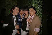 TRAFALGAR PING, SAM VOLTAGE, DAISY LOWE AND LOUIS BHOSE Party to Celebrate opening of New Diesel Store on 130 Bond St.  at store and afterwards at Victoria House, Bllomsbury Sq. 18 May 2006. ONE TIME USE ONLY - DO NOT ARCHIVE  © Copyright Photograph by Dafydd Jones 66 Stockwell Park Rd. London SW9 0DA Tel 020 7733 0108 www.dafjones.com
