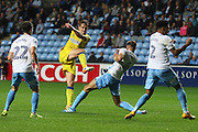 AFC Wimbledon defender Paul Robinson (6) shoots at goal during the EFL Sky Bet League 1 match between Coventry City and AFC Wimbledon at the Ricoh Arena, Coventry, England on 28 September 2016. Photo by Stuart Butcher.