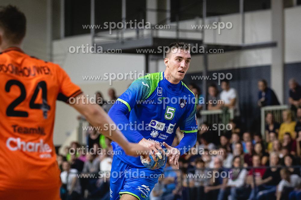 Nik Henigman of Slovenia during friendly handball match between Slovenia and Nederland, on October 25, 2019 in Športna dvorana Hardek, Ormož, Slovenia. Photo by Blaž Weindorfer / Sportida
