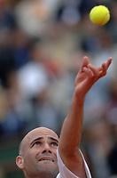 Tennis<br /> Foto: Dppi/Digitalsport<br /> NORWAY ONLY<br /> <br /> ROLAND GARROS 2005<br /> <br /> ANDRE AGASSI (USA)