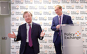 Tim Farron MP leader of the Liberal Democrats speech - Powering a New Economy: <br /> how a clean energy revolution means Britain can lead the world<br /> at Policy Exchange, London, Great Britain <br /> 22nd February 2017 <br /> <br /> Warwick Lightfoot , Head of Research, and Head of Economics and Social Policy at Policy Exchange with <br /> Tim Farron <br /> <br /> Photograph by Elliott Franks <br /> Image licensed to Elliott Franks Photography Services