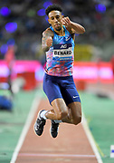Chris Benard (USA) places sixth in the triple jump at 53-8½ (16.37m) during the 42nd Memorial Van Damme in an IAAF Diamond League meet at King Baudouin Stadium in Brussels, Belgium on Friday, September 1, 2017. (Jiro Mochizuki/Image of Sport)