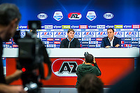 ALKMAAR - 09-11-2015, Max Huiberts nieuwe directeur Voetbal Zaken AZ , AFAS Stadion,