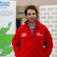 Scottish Wildlife Trust Ambassador Mark Beaumont visits Loch of the Lowes Wildlife Reserve, Perthshire<br /> Picture by Graeme Hart.<br /> Copyright Perthshire Picture Agency<br /> Tel: 01738 623350  Mobile: 07990 594431