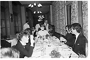 Eric at head of the table, St Moritz 1985© Copyright Photograph by Dafydd Jones 66 Stockwell Park Rd. London SW9 0DA Tel 020 7733 0108 www.dafjones.com