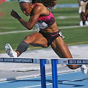 ROLLINS - 13USA, Des Moines, Ia. - Brianna Rollins won her 100 hurdles heat on Thursday.  Photo by David Peterson