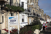 Seafront guest houses out of season, Lowestoft, Suffolk, England
