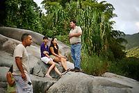 La Piedra Escrita, with Taino petroglyphs, in Jayuya, Puerto Rico, Sunday, November 16, 2008.
