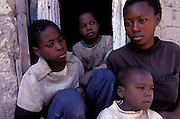 4 siblings orphaned by AIDS, Lusaka, Zambia.