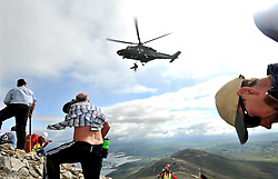 The Air Corp assisting the Mountain rescue on Croagh Patrick on sunday.<br /> Pic Conor McKeown