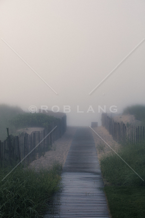 wooden walkway to the ocean in Amagansett, NY