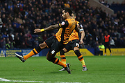 Hull City Midfielder Tom Huddlestone strikes during the Sky Bet Championship match between Preston North End and Hull City at Deepdale, Preston, England on 28 December 2015. Photo by Pete Burns.