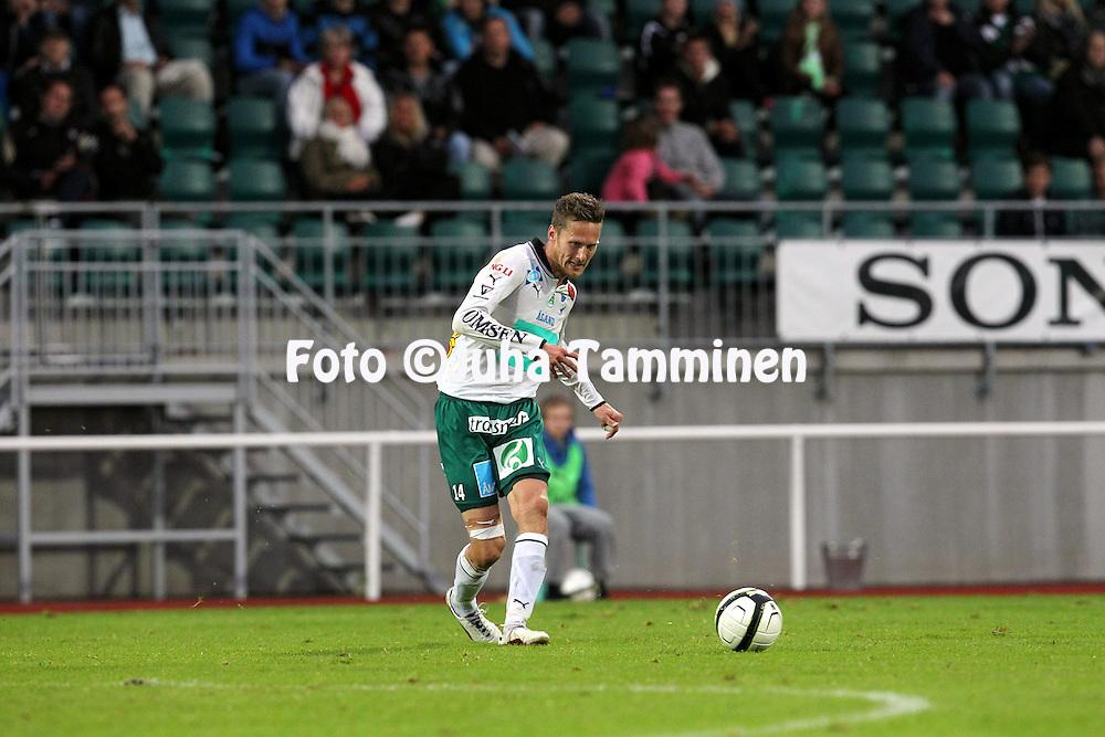 2.9.2012, Wiklof Holding Arena, Mariehamn / Maarianhamina..Veikkausliiga 2012..IFK Mariehamn - Kuopion Palloseura..Mattias Wikl?f - IFK Mhamn