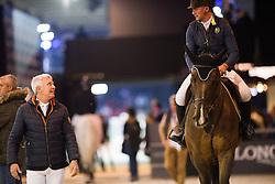 Bost Roger Yves, FRA, Hurel Jerome, GBR<br /> Laiterie de Montaigu Trophy<br /> Longines Masters Paris 2016<br /> © Hippo Foto - Cara Grimshaw