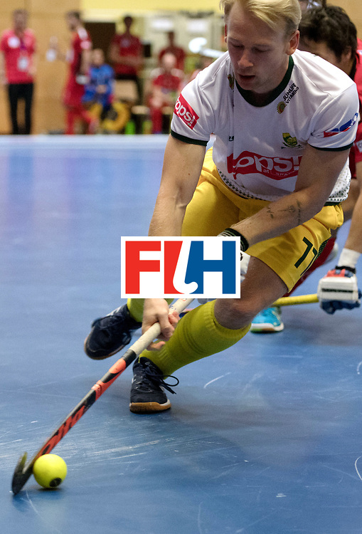 BERLIN - Indoor Hockey World Cup<br /> Switzerland - South Africa<br /> foto: JONES Jarryd<br /> WORLDSPORTPICS COPYRIGHT FRANK UIJLENBROEK