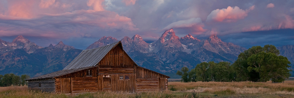 The historic Moulton Barn was built by Mormon homesteaders in the Jackson Hole valley nearly a century ago. Due to the dramatic Teton Range rising behind it, this very well may be the most photographed old barn in the United States.