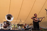 Hazmat Modine a New York band playing at Womadelaide 2016 Music Festival held between 11 - 14 March 2016 in Adelaide, South Australia