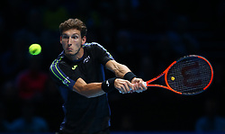 November 15, 2017 - London, England, United Kingdom - Pablo Carreno Busta of Spain against Dominic Thiem of Austia.during Day Four of the NITTO ATP World Tour  Finals played at The O2 Arena, London on November 15 2017  (Credit Image: © Kieran Galvin/NurPhoto via ZUMA Press)