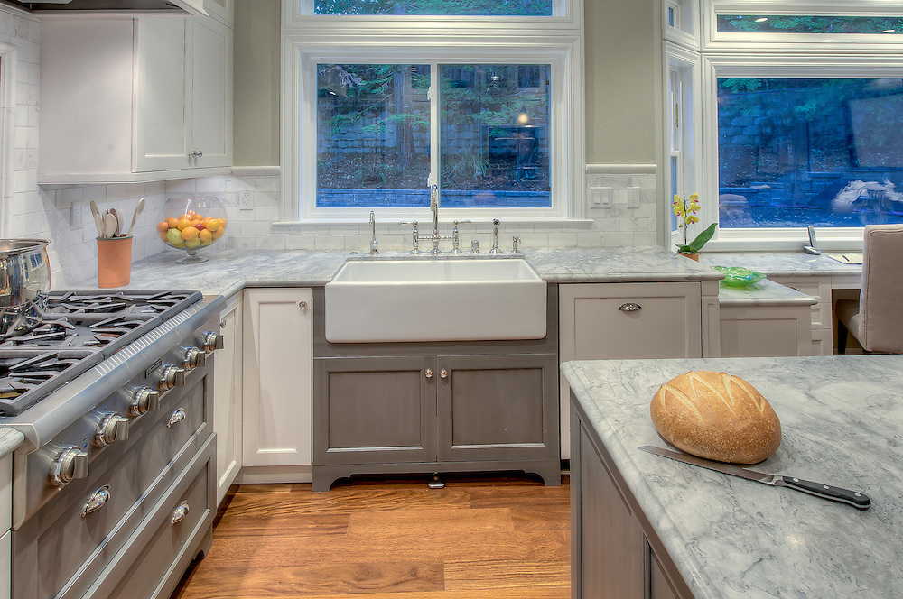 Residential kitchen remodel with a traditional style