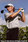 Germany's Bernhard Langer tees off during a practice round prior to The 2005 Sony Open In Hawaii. The event was held at The Waialae Country Club in Honolulu.