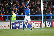 GOAL Ian Henderson celebrates his second goal 2-0 during the EFL Sky Bet League 1 match between Rochdale and Coventry City at Spotland, Rochdale, England on 17 April 2017. Photo by Daniel Youngs.