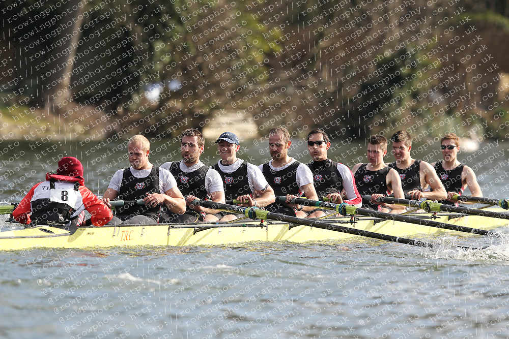 2012.02.25 Reading University Head 2012. The River Thames. Division 1. Thames Rowing Club IM1 8+.