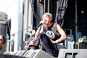 Hail the Villain performing at Uproar Festival at the Lifestyles Community Pavilion in Columbus, OH on August 24, 2010