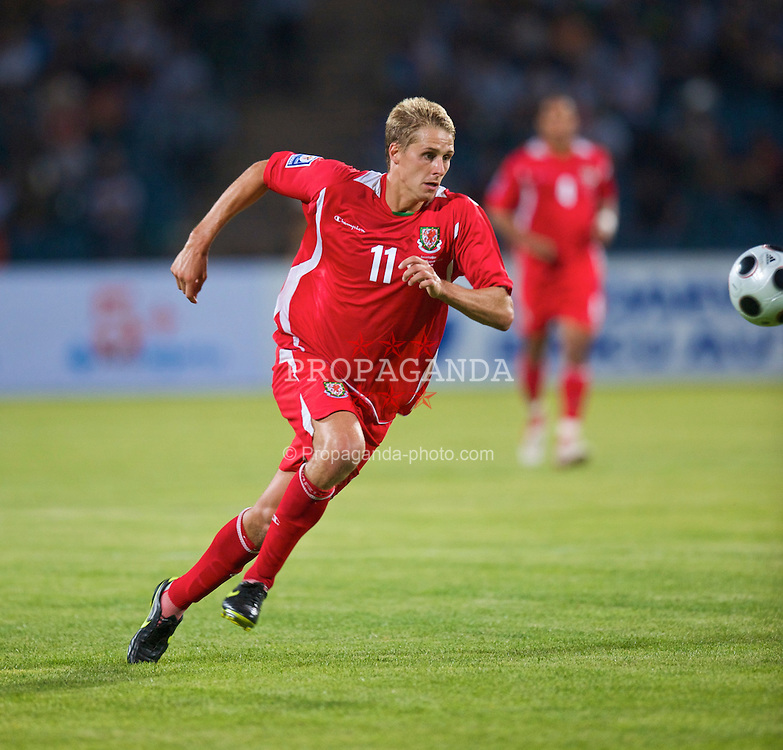 BAKU, AZERBAIJAN - Saturday, June 6, 2009: Wales' David Edwards in action against Azerbaijan during the 2010 FIFA World Cup Qualifying Group 4 match at the Tofig Bahramov Stadium. (Pic by David Rawcliffe/Propaganda)