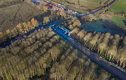 VIDEO AVAILABLE : https://we.tl/t-SQVmqbvcNl © Licensed to London News Pictures. 29/01/2020. London, UK. An access road for the High Speed Two (HS2) rail line works has been built through a wooded area near Newyears Green in the London Borough of Hillingdon.  A government decision is expected soon on whether the HS2 rail project will fully go ahead with some budget estimates showing a cost of £70-£80bn. Photo credit: Peter Macdiarmid/LNP