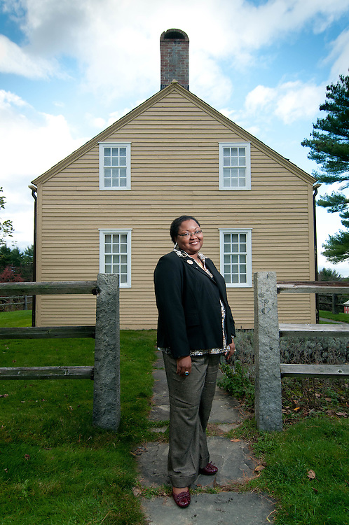 Fruitlands Museum Executive Director Wyona Lynch McWhite photographed on location in Harvard, MA.