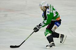 Andrej Hebar (HDD Tilia Olimpija, #84) during ice-hockey match between HDD Tilia Olimpija and Moser Medical Graz99ers in 10th Round of EBEL league, on October 10, 2010 at Hala Tivoli, Ljubljana, Slovenia. (Photo By Matic Klansek Velej / Sportida.com)