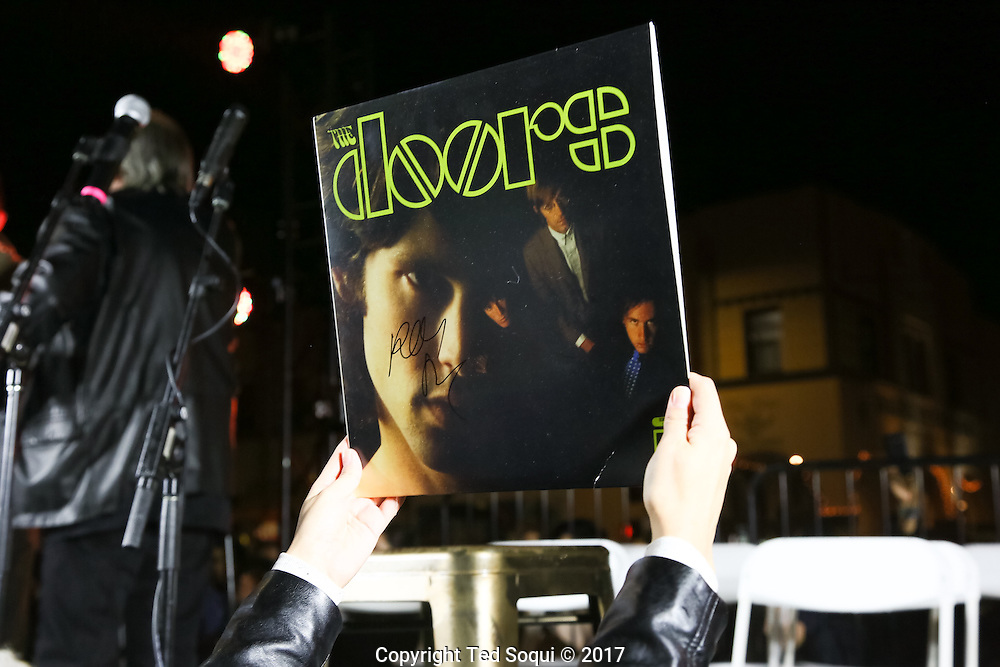 50th anniversary commemorating The Doors first album released Jan 4, 1967. The event was held under the Venice sign where the band formed and lived over 50 years ago.