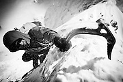 Mountaineer with Ice Axe