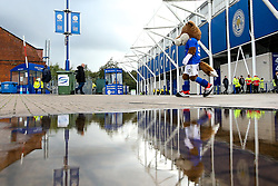 Filbert Fox, Leicester City's mascot, outside the King Power Stadium - Mandatory by-line: Robbie Stephenson/JMP - 29/09/2019 - FOOTBALL - King Power Stadium - Leicester, England - Leicester City v Newcastle United - Premier League