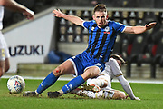 Rochdale defender (on loan from Sheffield United) Rhys Norrington-Davies (3) is fouled during the EFL Sky Bet League 1 match between Milton Keynes Dons and Rochdale at stadium:mk, Milton Keynes, England on 28 January 2020.