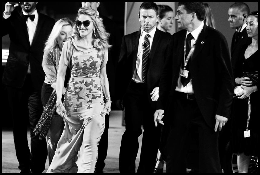 Madonna attends the premiere of movie W.E. presented out of competititon at the 68th Venice International Film Festival.