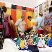 Items for sale in a stand at the 22nd Salon International de l'Artisanat de Ouagadougou (SIAO) in Ouagadougou, Burkina Faso on Saturday November 1, 2008.