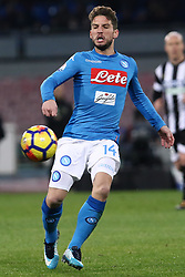 December 19, 2017 - Naples, Italy - DRIES MERTENS (SSC Napoli) during the TIM Cup match between SSC Napoli and Udinese Calcio at Stadio San Paolo on December 19, 2017 in Naples, Italy. (Credit Image: © Paolo Manzo/NurPhoto via ZUMA Press)