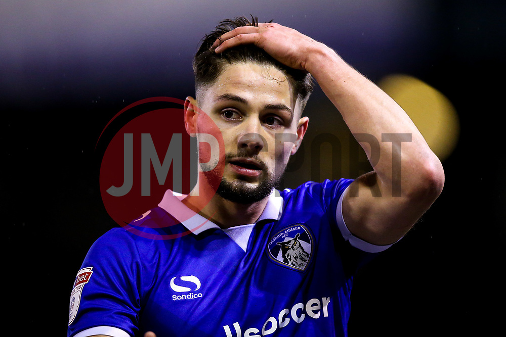 Rob Hunt of Oldham Athletic - Mandatory by-line: Robbie Stephenson/JMP - 19/02/2019 - FOOTBALL - Boundary Park - Oldham, England - Oldham Athletic v Morecambe - Sky Bet League Two