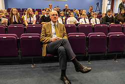 Pictured: <br />Deputy First Minister John Swinney headed to perth today to help with a Digital Scots Map launch. Scots Language Centre director Dr Michael Dempster, and children from Robert Douglas Memorial Primary School and Perth High School help qwith the developme nt and launch of Gaun hame, the first Scots language digital map of Scotland<br /><br />Ger Harley | EEm 20 September 2019