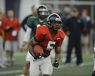 Running back I'Tavius Mathers at Ole Miss football practice at the IPF in Oxford, Miss. on Wednesday, April 3, 2013.