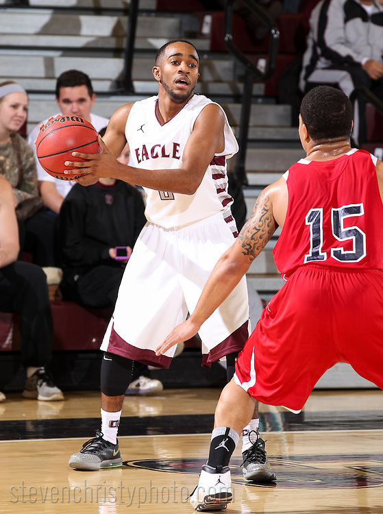 January 16, 2014: The Oklahoma Panhandle State University Aggies play against the Oklahoma Christian University Eagles in the Eagles Nest on the campus of Oklahoma Christian University.