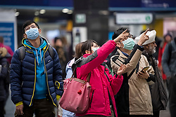 © Licensed to London News Pictures. 05/03/2020. London, UK. Passengers at Euston Station in London during rush hour, wearing medical masks. New cases of the COVID-19 strain of Coronavirus are being reported daily as the government outlines it's plans for controlling the outbreak. Photo credit: Ben Cawthra/LNP